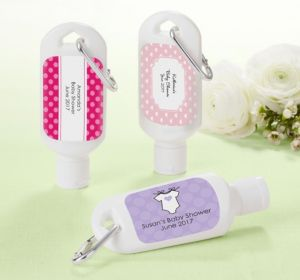 Personalized Baby Shower Sunscreen Favors (Printed Label) (Lavender, Lion)