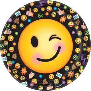 Smiley Lunch Plates 8ct