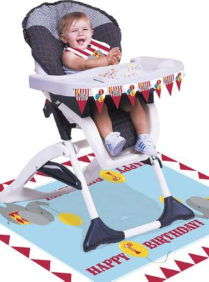 Carnival 1st Birthday High Chair Decorating Kit 3pc
