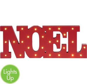 Light-Up LED Noel Block Letter Sign