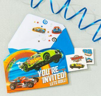 Hot Wheels Invitation Kit