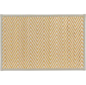 Silver Chevron Bamboo Placemat
