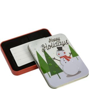 Snowman Holiday Gift Card Holder Tin