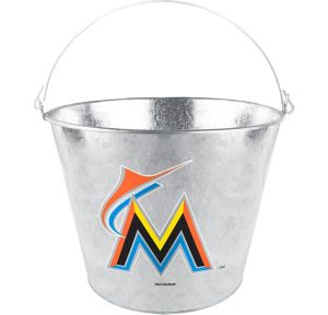 Miami Marlins Galvanized Bucket