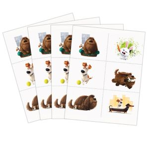The secret life of pets tattoos 4 sheets party city for Tattoo secret life of pets