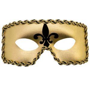 Gold Fleur-de-Lis Mardi Gras Masquerade Mask