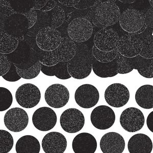 Glitter Black Circle Confetti