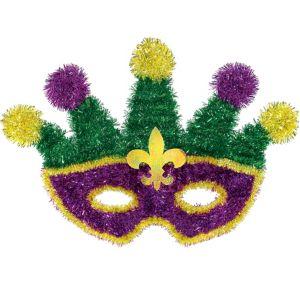 Tinsel Masquerade Mask Mardi Gras Sign