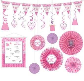 Shower With Love Girl Decorations Shower Kit