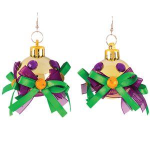 Ornament Mardi Gras Earrings
