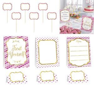 Pink Buffet Decorating Kit 12pc