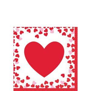 Confetti Hearts Valentine's Day Beverage Napkins 16ct