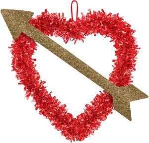 Tinsel Heart with Arrow