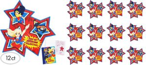 DC Super Hero Girls Valentine Exchange Cards with Sketch Pads 12ct