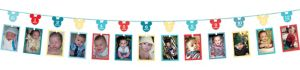 1st Birthday Mickey Mouse Photo Garland
