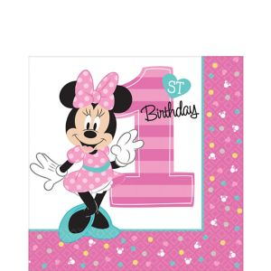 1st Birthday Minnie Mouse Lunch Napkins 16ct