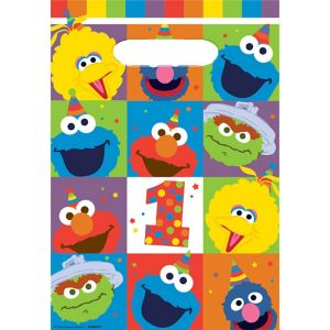 1st Birthday Elmo Favor Bags 8ct