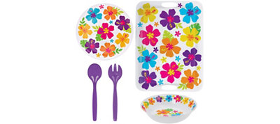White Hibiscus Summer Serveware Kit