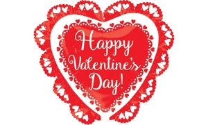 Doily Happy Valentine's Day Heart Balloon
