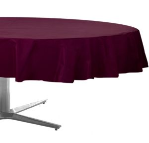 Berry Plastic Round Table Cover