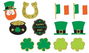 St. Patrick's Day Cutouts 12ct