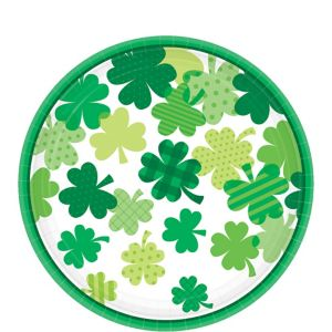 Blooming Shamrock Lunch Plates 18ct