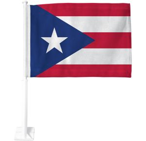 Puerto Rican Flag Car Flag