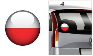 Polish Flag Decal