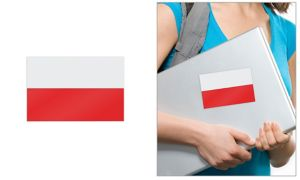 Polish Flag Cling Decal