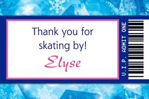 Custom Ice Skating Ticket Thank You Note