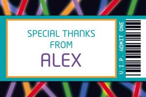 Custom Arcade Ticket Thank You Note