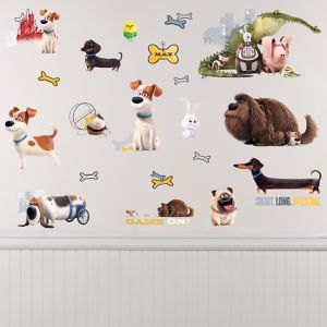 The Secret Life of Pets Wall Decals 21ct