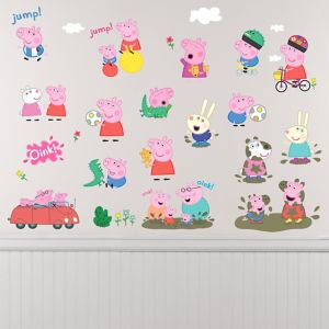 Peppa Pig Wall Decals 28ct