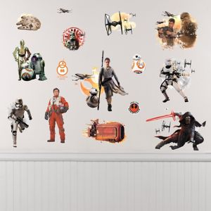 Star Wars 7 The Force Awakens Wall Decals 15ct