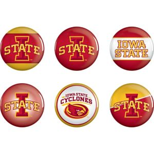 Iowa State Cyclones Buttons 6ct