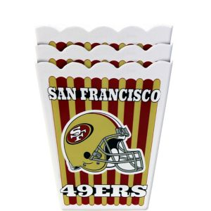 San Francisco 49ers Popcorn Boxes 3ct