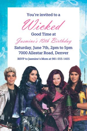 Custom Disney's Descendants Invitation