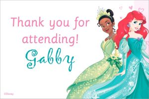 Custom Disney Princess Thank You Note