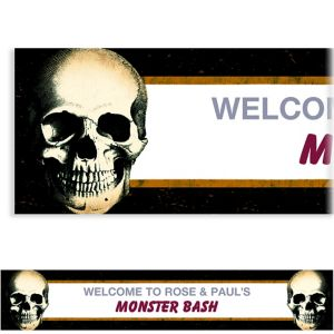 Custom Skull Banner
