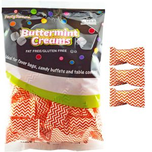 Orange Chevron Pillow Mints 50ct
