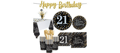 Sparkling Celebration 21st Birthday Party Kit for 32 Guests