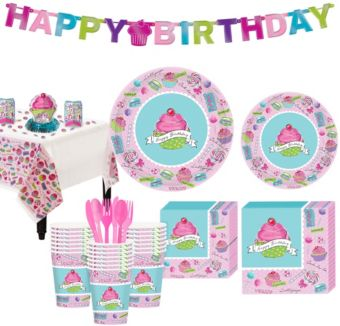 Pastel Birthday Sweets Party Kit for 36 Guests