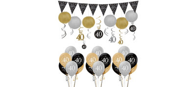 Sparkling Celebration 40th Birthday Balloon Kit