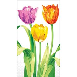 Spring Tulips Guest Towels 16ct