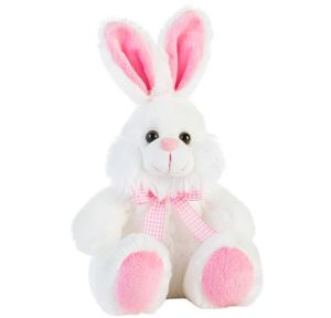 Pink & White Easter Bunny Plush