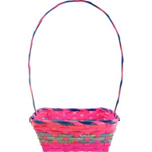 Medium Pink Square Easter Basket