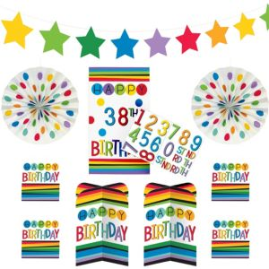 Rainbow Happy Birthday Room Decorating Kit 36pc