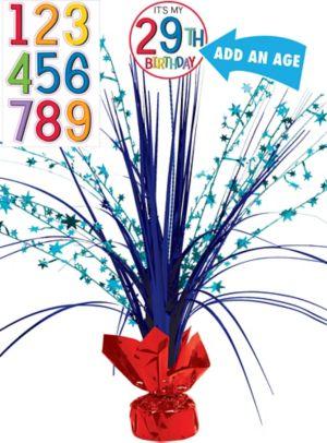 Rainbow Happy Birthday Spray Centerpiece Kit