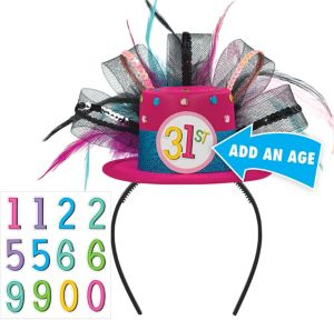 Mini Rainbow Happy Birthday Top Hat Headband Kit