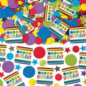 Rainbow Happy Birthday Confetti